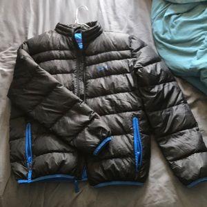 Boys black/blue puffer jacket